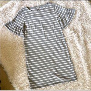 J Crew Knit Dress Ruffle sleeves size medium NWT